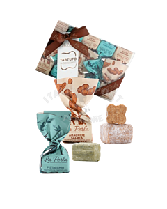 la-perla-tartufi-cioccolato-pistacchio-arachide-150g-webshop-Italia-Import