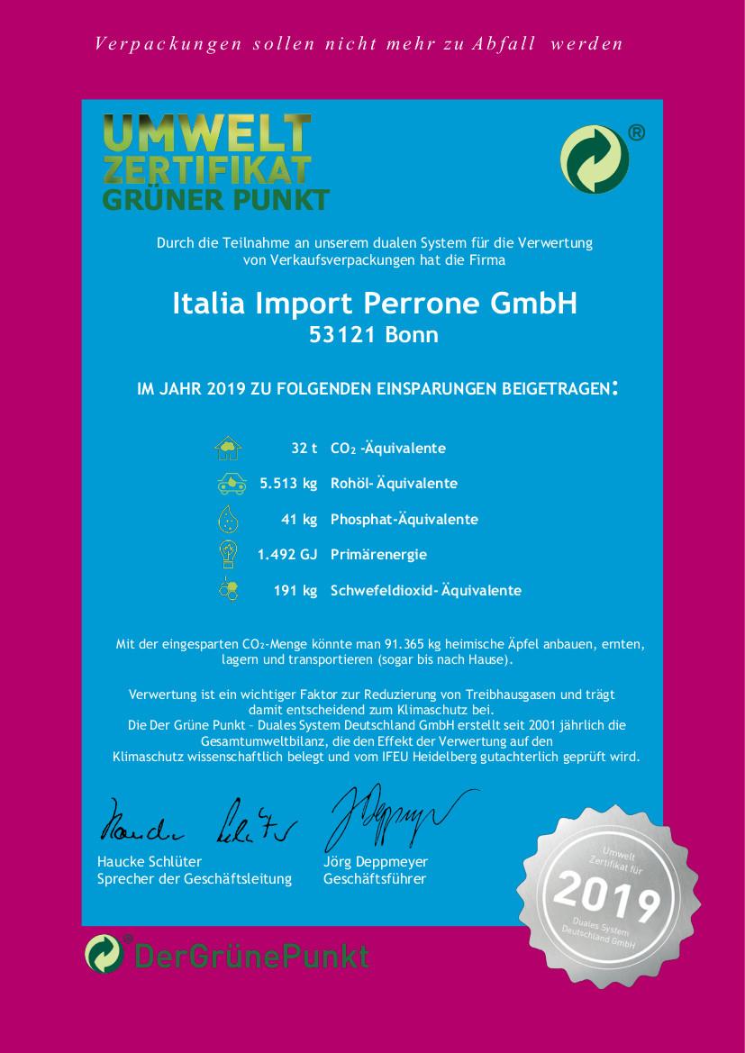 Der gruene Punkt Italia Import